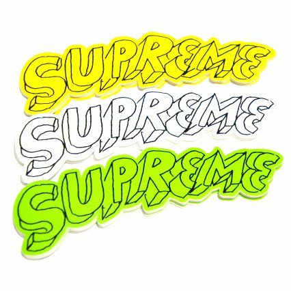 Supreme Daniel Johnston Logo Sticker
