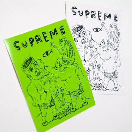 Supreme  Daniel Johnston Eternal Fight Tee Sticker<img class='new_mark_img2' src='//img.shop-pro.jp/img/new/icons47.gif' style='border:none;display:inline;margin:0px;padding:0px;width:auto;' />