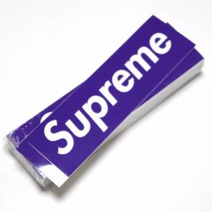Supreme Box Logo Sticker Purple<img class='new_mark_img2' src='//img.shop-pro.jp/img/new/icons47.gif' style='border:none;display:inline;margin:0px;padding:0px;width:auto;' />