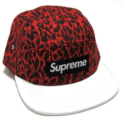 Supreme Box Logo Leopard Leather Camp Cap