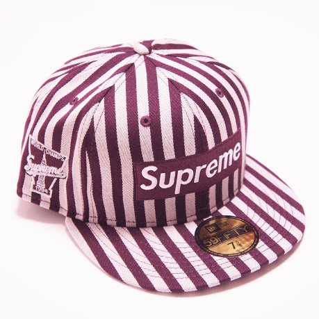 Supreme Striped Box Logo New Era Cap