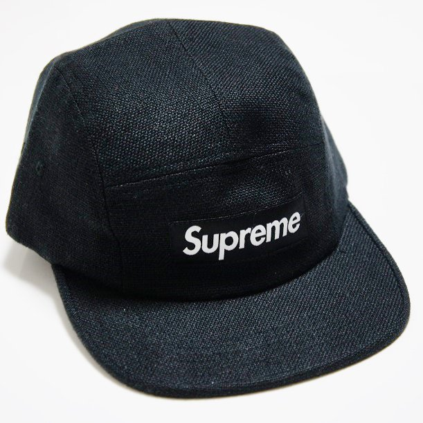 Supreme Box Logo Linen Croc Strap Camp Cap<img class='new_mark_img2' src='//img.shop-pro.jp/img/new/icons47.gif' style='border:none;display:inline;margin:0px;padding:0px;width:auto;' />