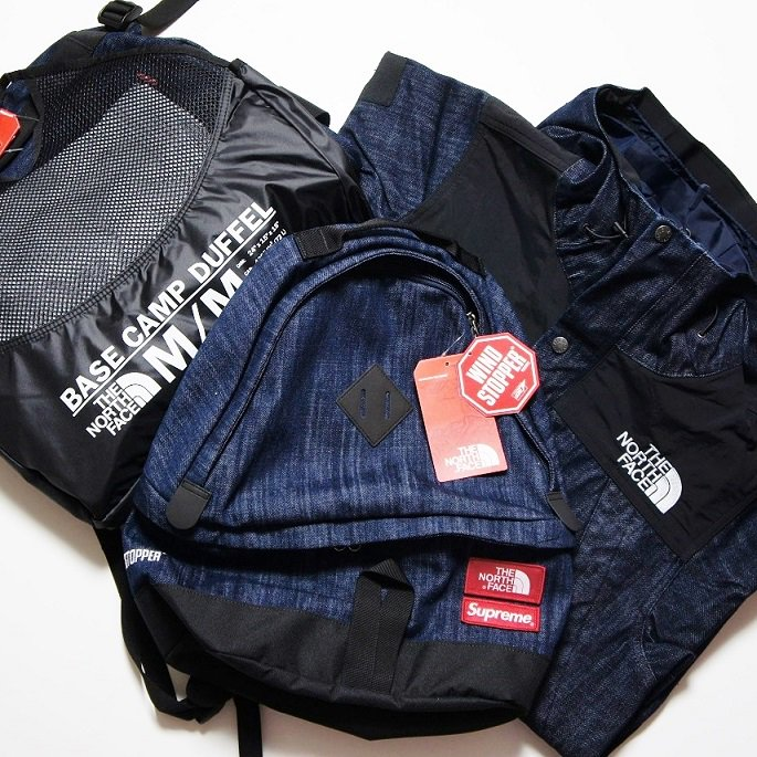 Supreme/The North Face - Denim Base Camp Duffel<img class='new_mark_img2' src='https://img.shop-pro.jp/img/new/icons47.gif' style='border:none;display:inline;margin:0px;padding:0px;width:auto;' />