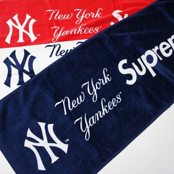 supreme new york yankees towel supreme online shop a 1 record. Black Bedroom Furniture Sets. Home Design Ideas