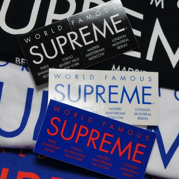 Supreme International Sticker