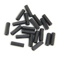 Nylon Pillar Hex Spacer (Double Flat Head / Black / M3x20mm / 20pcs) [03-659]