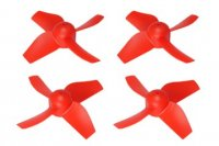 Plastic 4-Blade Propeller 31mm/0.8mm Shaft CW/CCW Set (RED)- BLADE INDUCTRIX FPV [MH-4PP3108RD