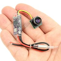 Micro 5.8Ghz Camera for Mini Quad (16CH / 7-18V Input / 25mW & 100mW Switchable / 6-7g) [08-276]