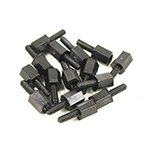 Nylon Pillar Hex Spacer (Single Flat Head / Black / M2x4+6mm / 20pcs) [09-268]