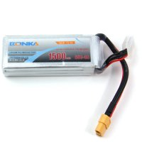 Bonka Li-Polymer Battery 11.1V (3 Cells) 1500mAh 65-130C [02-076]