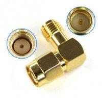 RP-SMA-JACK To RP-SMA-PLUG 90° Angle Adapter [09-350]