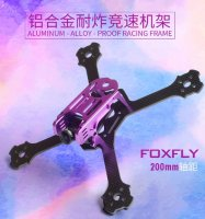 RCX FOX200 FPV Proof Racing Frame (3K Carbon / Aluminum Alloy / Purple) [FOX200-P1-P]