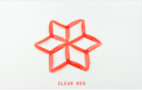 KingKong / LDARC 5x4x3 PC Propeller for Racing Drone (10 Pairs /Clear RED)[01-710]