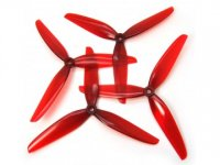 HQ Durable Prop 7X3.5X3V1S 7035 Light Red (2CW+2CCW)-Poly Carbonate [HQ-794653]