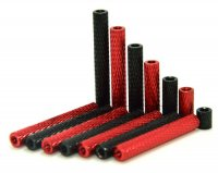 Textured Aluminium Spacer (M3x10mm / 4pcs /[RED]) [09-549]