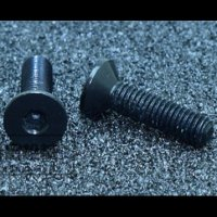 Aluminum 7075 Screw [Countersunk Head] (M3*8 / 10pcs / Black)[09-506]