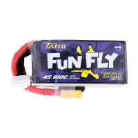 Tattu FunFly 1550mAh 100C 14.8V 4S1P lipo battery XT60 [TATTU-004]