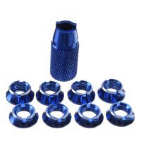 Radio Control Transmitter Switch Nut for Futaba T8FG T14SG T18sz T16sz with Wrench (Blue)[09-473]