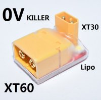 RC LiPo Battery 0V Killer Lithium Battery Discharger for XT60 and XT30 Plug Battery [09-602]