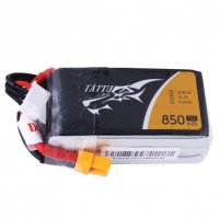 Tattu 11.1V 75C 3S 850mAh Lipo Battery Pack with XT30 Plug [Tattu]