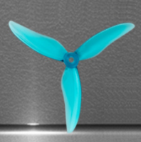 Hurricane 51499-3 Durable Tri-Propeller (GemFan / 2 Pairs / Clear Blue) [01-779]