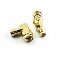 Right Angle Anntenna Revert Connector (PR SMA Male/PR SMA Female) [IF-BG01299]