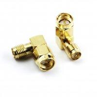 Right Angle Anntenna Revert Connector (SMA Male/PR SMA Female) [IF-V004275]