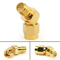 135° Angle Anntenna Revert Connector (SMA Male/PR-SMA Female) []