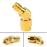 135° Angle Anntenna Revert Connector (PR-SMA Male/SMA Female) []