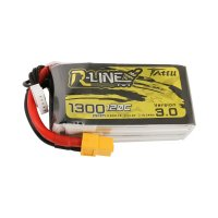 Tattu R-Line Version 3.0 1300mAh 14.8V 120C 4S1P Lipo Battery Pack with XT60 Plug [Tattu]