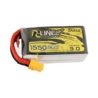 Tattu R-Line Version 3.0 1550mAh 14.8V 120C 4S1P Lipo Battery XT60 Plug