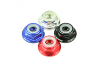 Hex Flange M5 10個入り(Low Profile / Slip-Resistant / Aluminium / Red / CCW 高さ 4.5mm) [03-894]