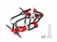 Aluminum/Carbon Fiber/Delrin Main Frame (RED) - BLADE NANO S2 [MH-NAS2105]