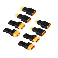 8pcs XT60 to XT30 Plug Female Male Adapter Converter for RC Lipo Battery FPV Drone [FB-6134517]