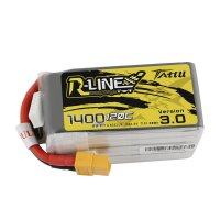 Tattu R-Line Version 3.0 1400mAh 22.2V 120C 6S1P Lipo Battery Pack with XT60 Plug [Tattu-]