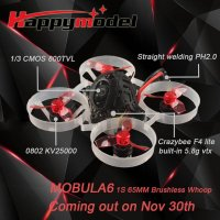Happymodel Mobula6 1S 65mm brushless whoop drone (SFHSS / Frsky)(Regular / Race) [FB-6214457]
