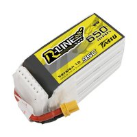 Tattu R-Line 650mAh 95C 22.2V 6S1P Lipo Battery Pack with XT30U-F Plug [Tattu]