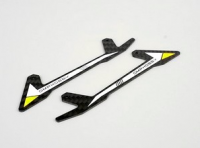 OSHM2025-Y M2 3D Helicopter  Carbon Fiber skid yellow (V1) [OS-]