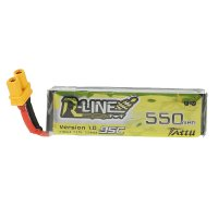 TATTU R-LINE 550mAh 3.7V  95C 1S Lipo Battery [Tattu]