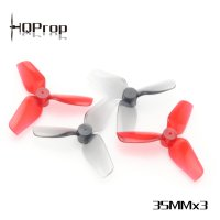 HQ Micro Whoop Prop 35mmX3 (2CW+2CCW)-Poly Carbonate-1MM Shaft [HQ-796053]
