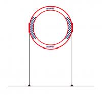 Gemfan 78x78cm single round fpv cube race gate []