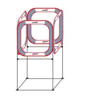Gemfan AC-TZ01-80 Four Sides Through FPV Cube Race Gate w/ Holder 80x80cm []