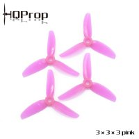 HQ Durable Prop T3x3x3 Pink (2CW+2CCW)-Poly Carbonate [HQ-794578]