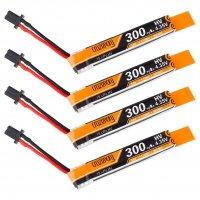 Crazepony 300mAh 1S HV 3.8/4.35V LiPo Battery 30/60C with GNB27 Power Connector (4P) [FB-6626465]