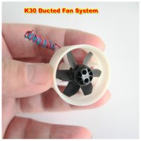 White EDF Fan Ultra Micro Brushed Motor E.D.F Unit 3.7v RC JET FAN [HJ-]