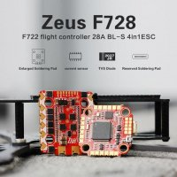 HGLRC Zeus F728 STACK  F722ドローンフライトコントローラー X 28A BL_S 4in1 ドローンESC [MA-]