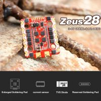 HGLRC Zeus 28A 4in1 ESC 3-6S BLHELI_S レースドローンESC [MA-]