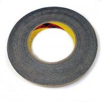 18mm Black Ribbed Cloth Adhesive Tape []