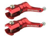Precision CNC Aluminum Main Blade Grips (RED) - V120D02S用 [MH-V12D2S102]