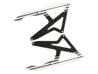Carbon Fiber Landing Skids (WHITE) (for MH Landing Gear series) [MH-TX15006FW]